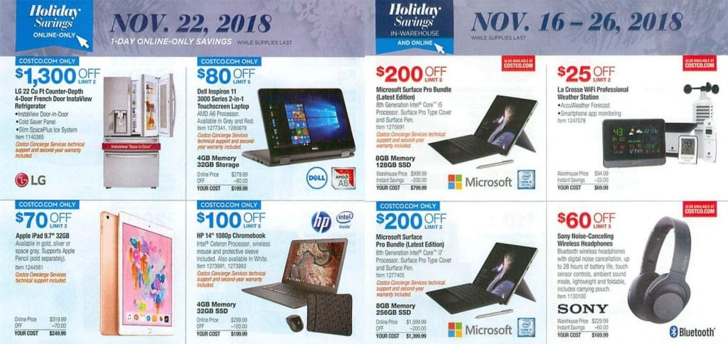 Costco Black Friday 2019 Deals Maximum Discount Offers