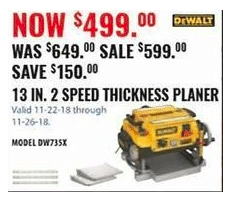 Wood Planer Black Friday Deals