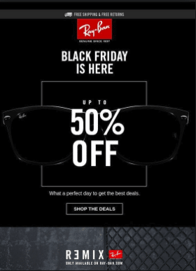 Ray Ban Black Friday deals