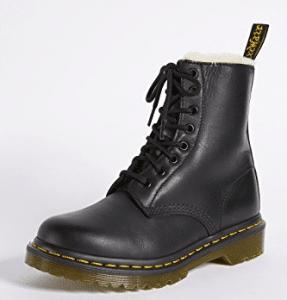 Vegan Doc Martin Dr. Marten 1460 Serena 8 Eye Sherpa Boots Black Friday 2019 Deals