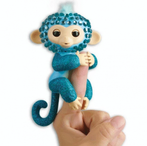 Fingerlings Interactive Fingerbling Monkey - Glam (Turquoise/Blue) Black Friday 2019 Deals