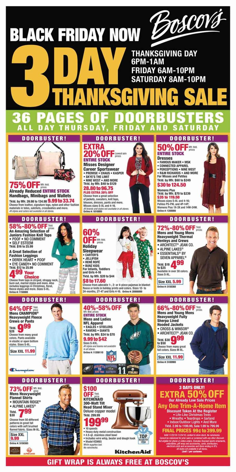 Boscov's Black Friday Ad Scan