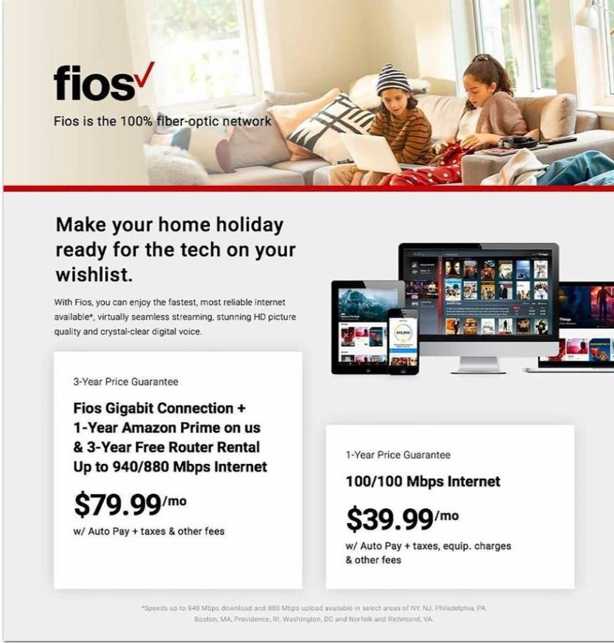 Fios by Verizon Black Friday Sales