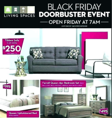 Living Spaces Black Friday Sale