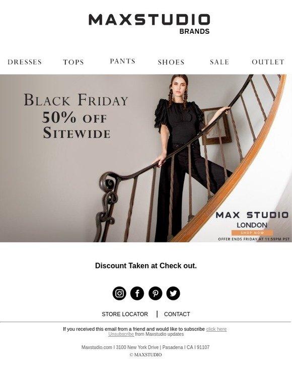 Max Studio Black Friday 2019