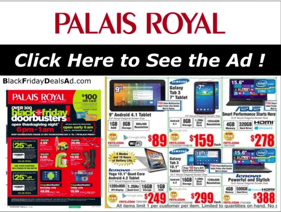 Palais Royal Black Friday Sales