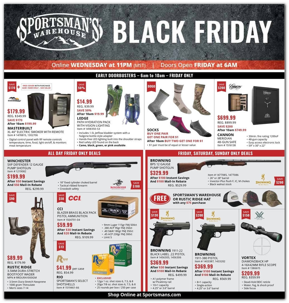 Sportsman Warehouse Black Friday 2019 Deals
