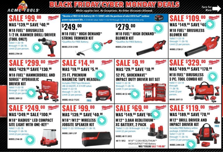 Acme Tools Black Friday Ad Scan
