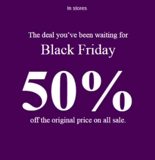 Aldo Black Friday 2019 sale
