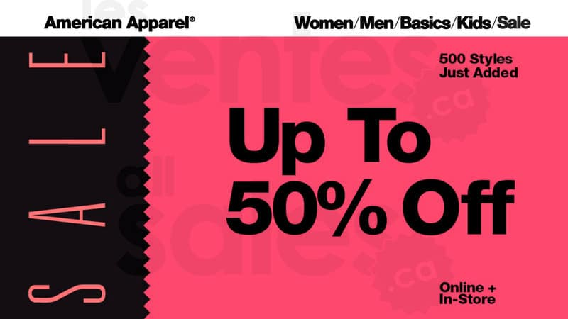 American Apparel Black Friday Coupon