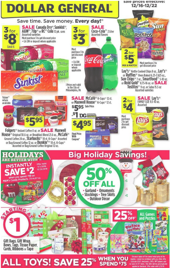 Dollar General Christmas Hours 2019 Dollar General After Christmas 2019 Sale, Ads, Offers on Daily
