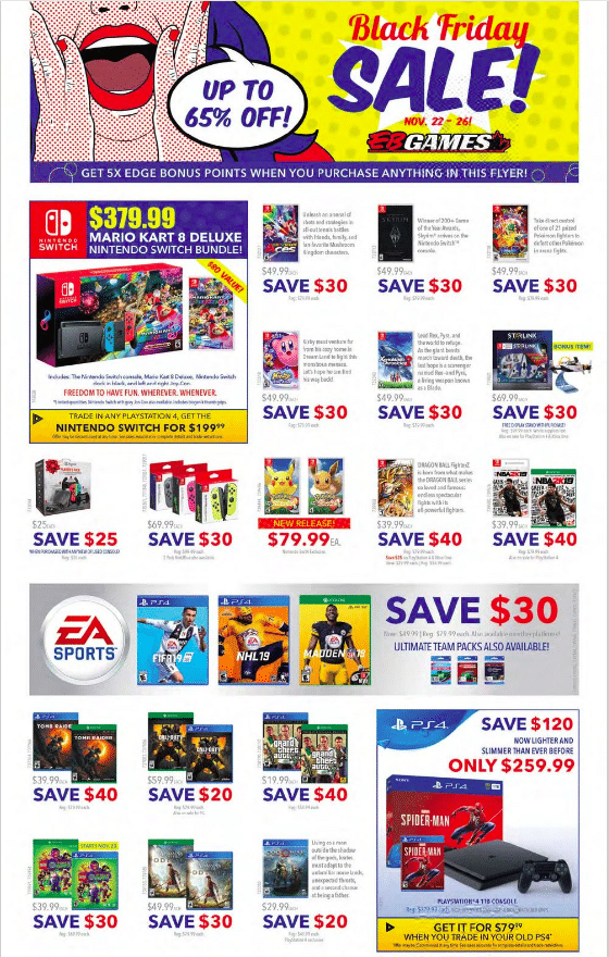 EB games black friday offers 2019