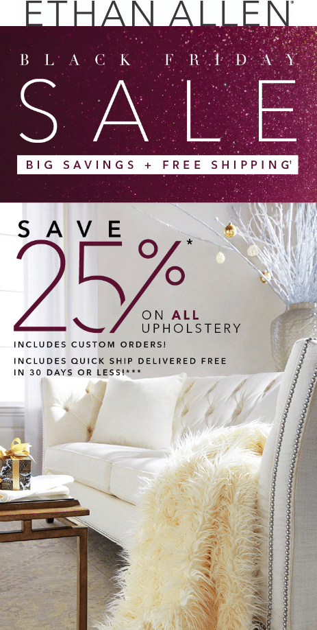 Ethan Allen Black Friday 2019 sale