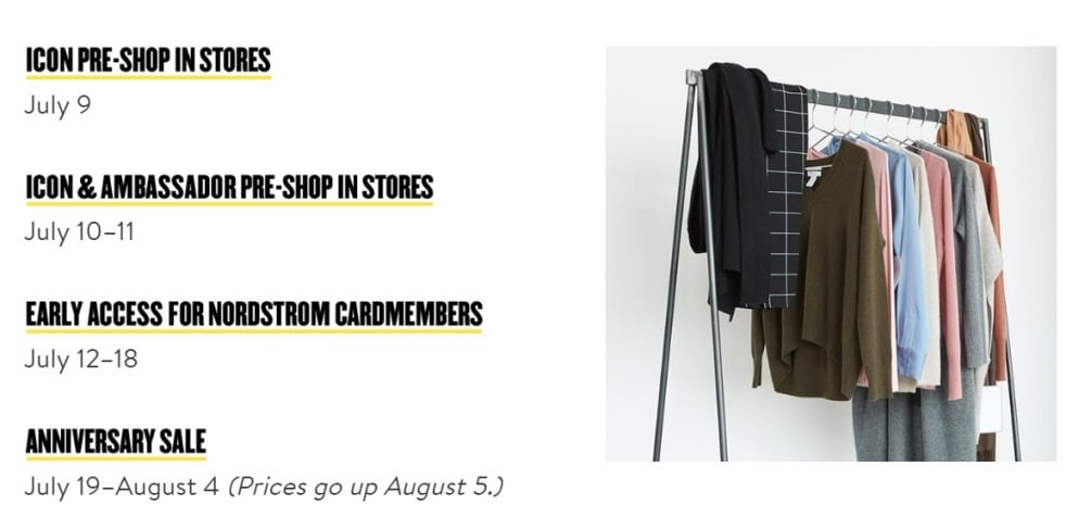 Nordstrom Black Friday in July 2019 Ad Scan