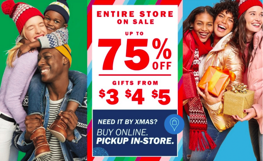 Old Navy After Christmas Sale 2019