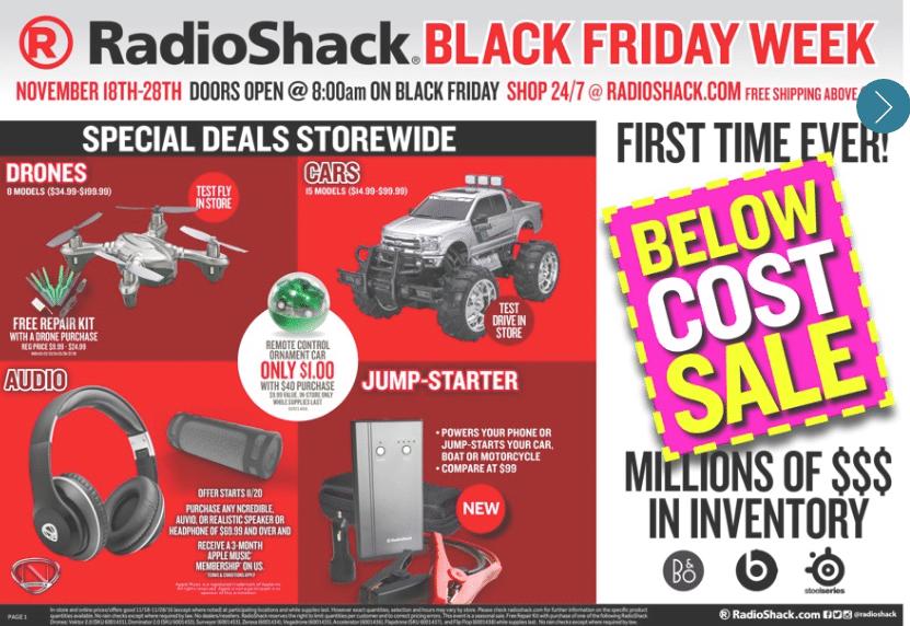 Radioshack Black Friday Deals