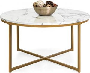Round Accent Marble Coffee Table