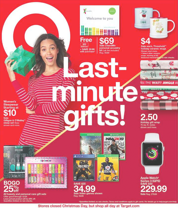 Target After Christmas Ads