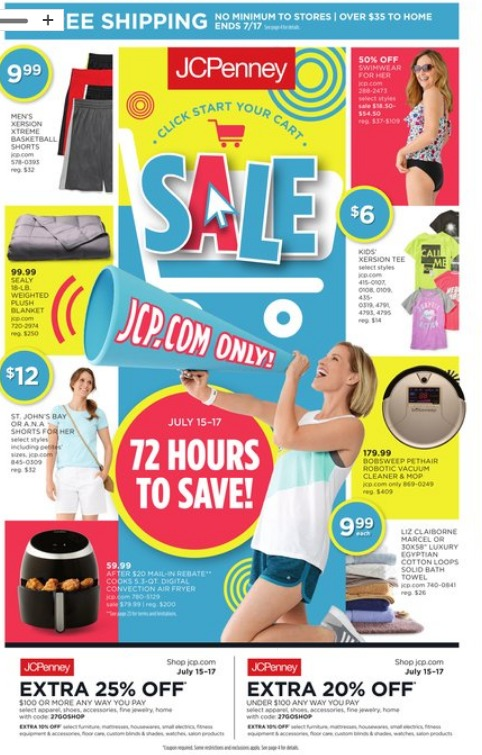 JCPenney Black Friday in July 2019 Deals