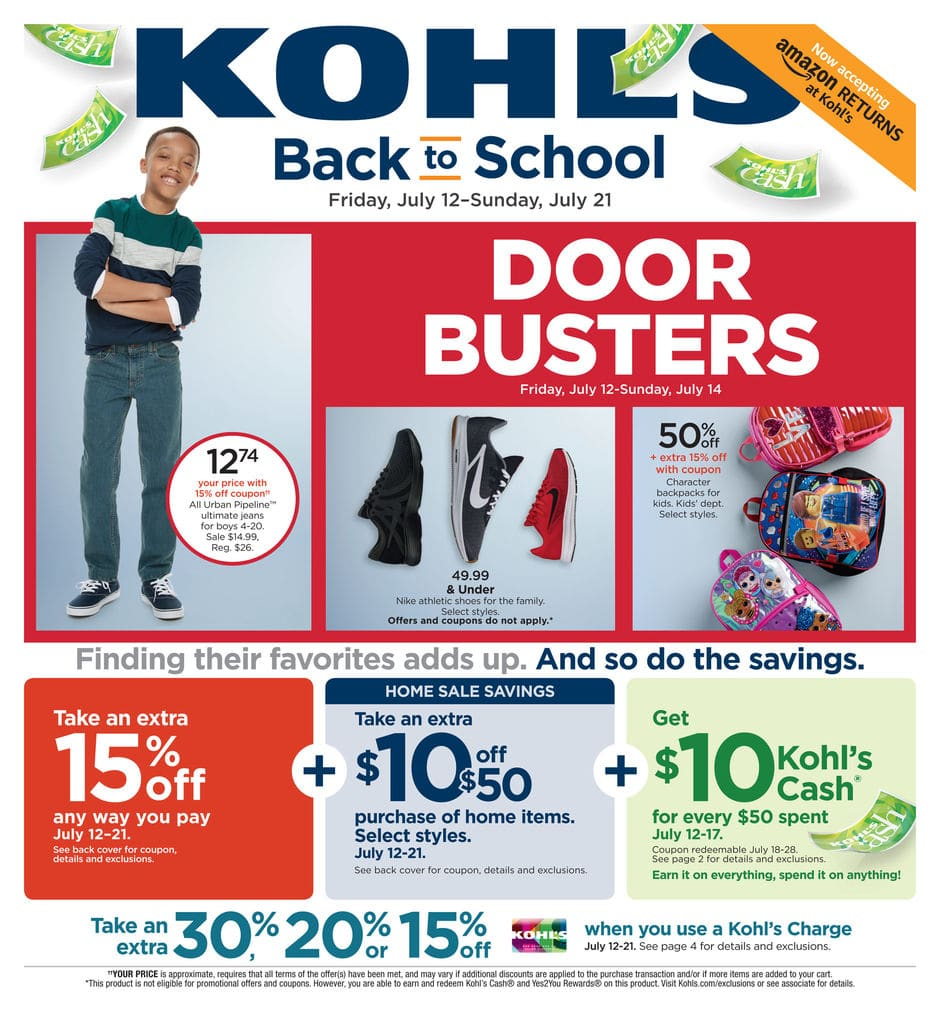Kohl's Black Friday in July 2019 Ad Scan