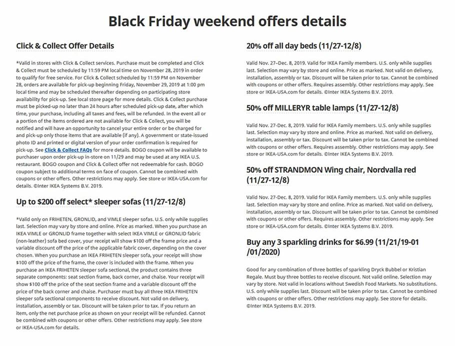 Ikea Black Friday 2019 Ad Scan 3