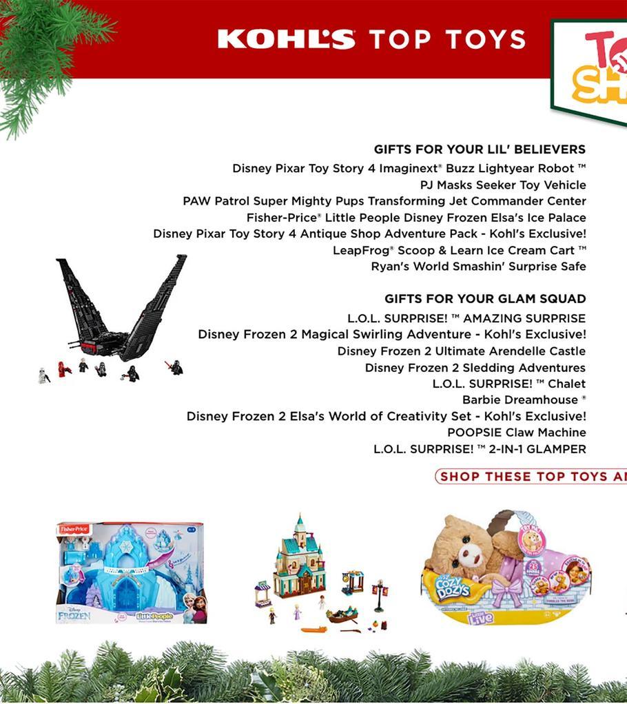 Kohls Toys Catalog Page 1