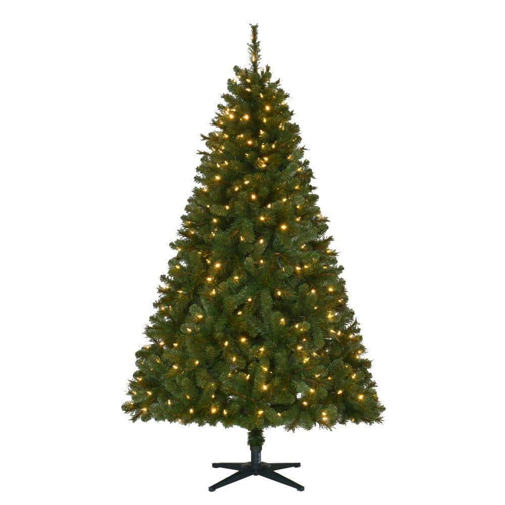 6.5 ft. Pre-Lit LED Wesley Spruce Artificial Christmas Tree Black Friday Deals