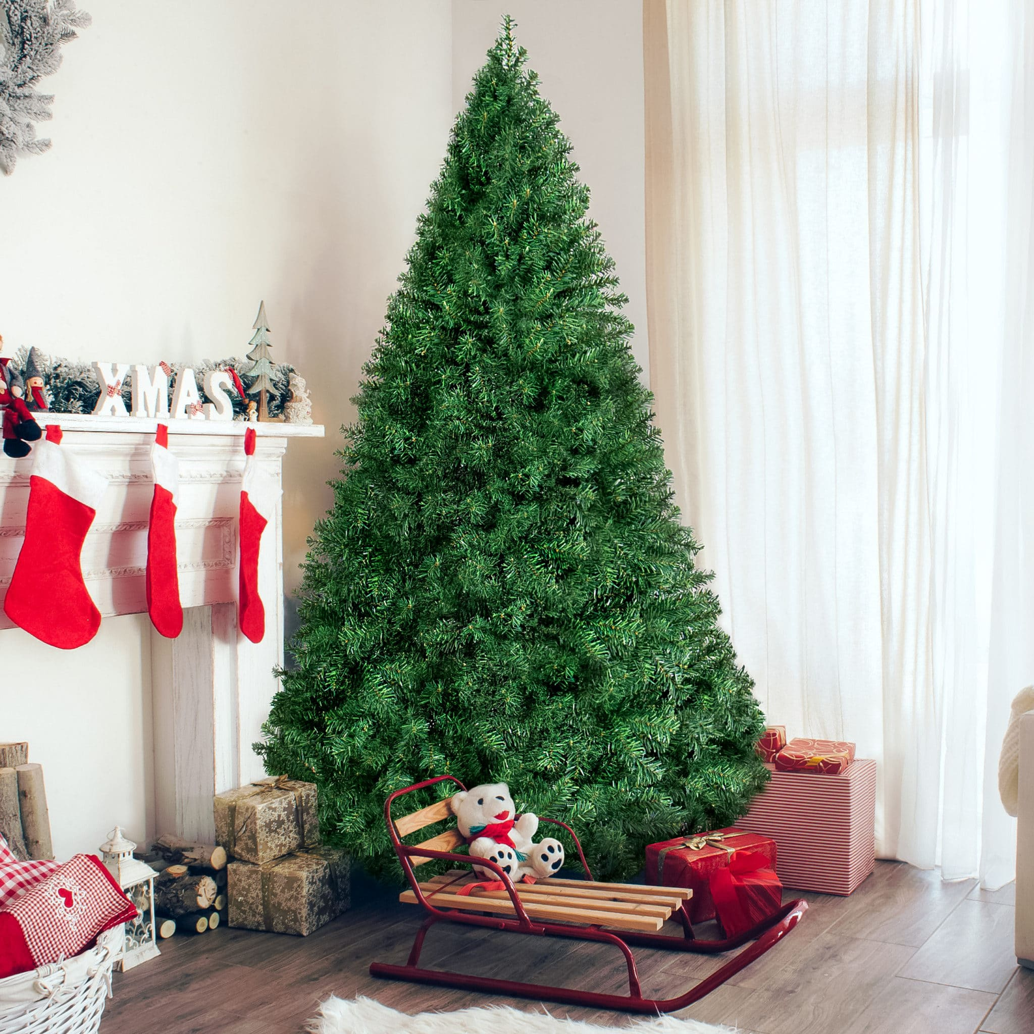 6ft Premium Hinged Artificial Christmas Pine Tree Black Friday Deal