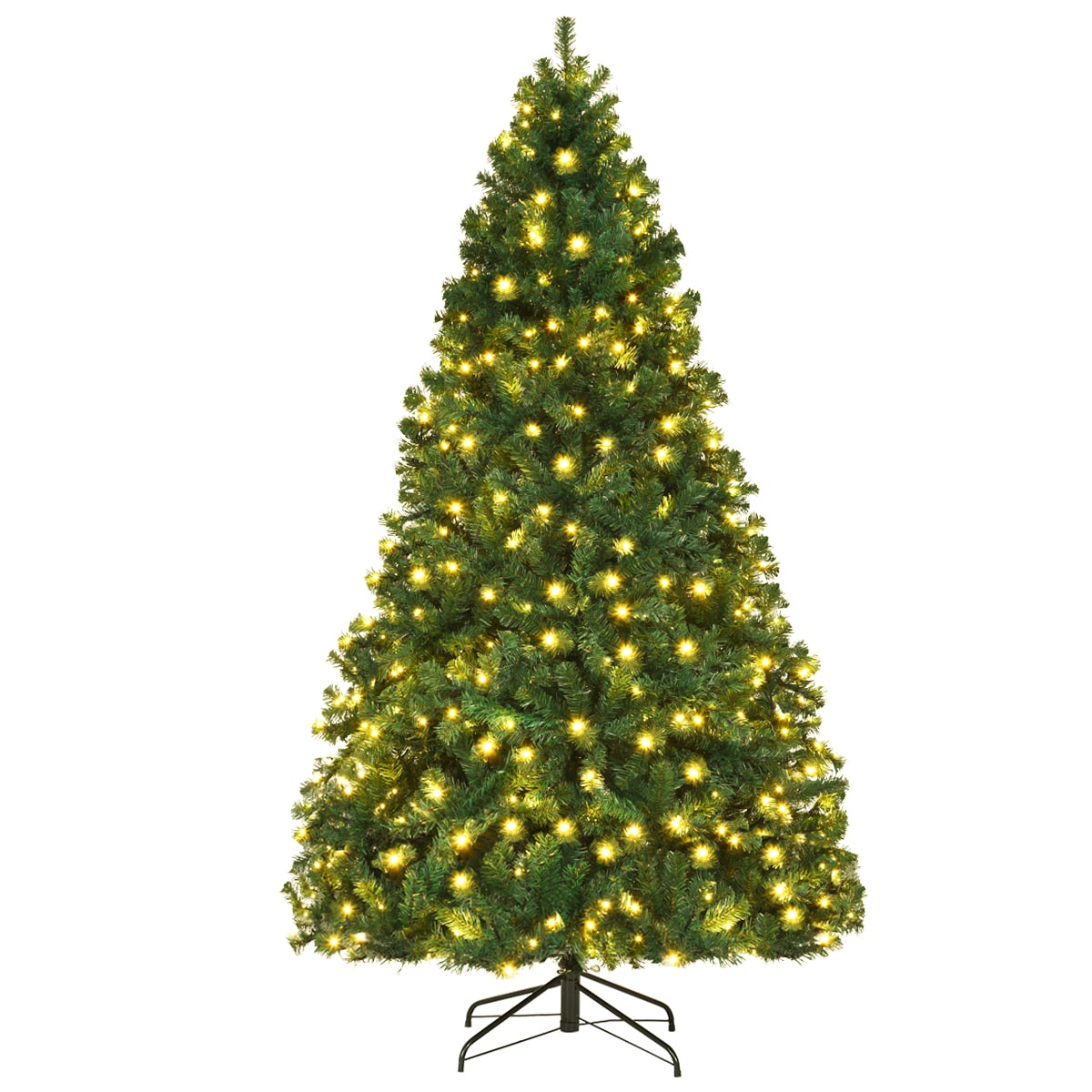 Costway 7.5Ft Pre-Lit PVC Christmas Tree Black Friday Deals