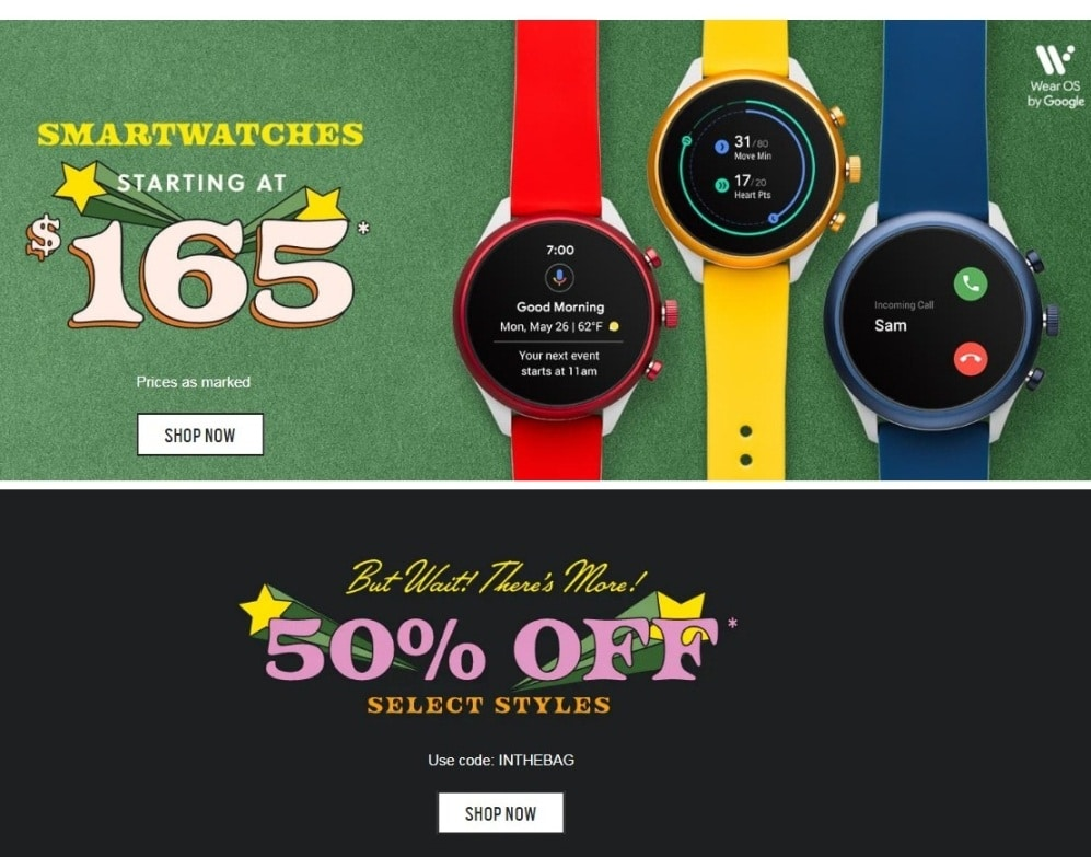 Fossil Black Friday 2019 Ad Scan 2