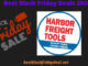 Harbor Freight Black Friday 2020
