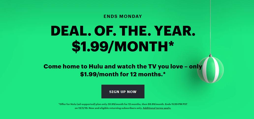 hulu black friday, hulu deals