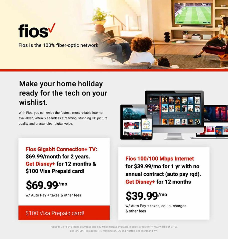 Verizon Fios Black Friday 2019 Ads
