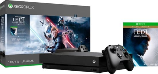 Xbox One X 1TB Star Wars Jedi - Fallen Order Deluxe Edition Console Bundle