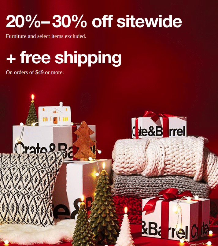 crate and barrel black friday 2019