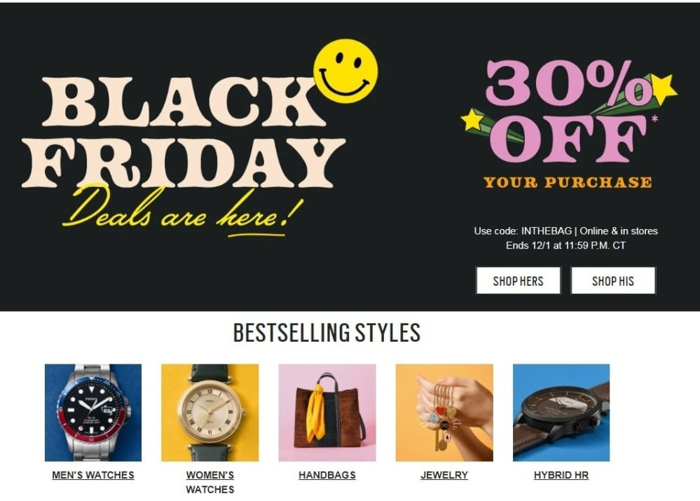 fossil black friday 2019 Ad Scan 1