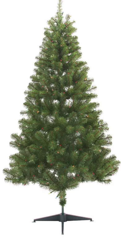 6ft Pre-lit Artificial Christmas Tree Alberta Spruce Multicolored Lights